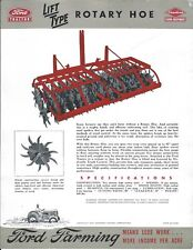 Farm Implement Brochure Ad - Ford Dearborn - Lift Type Rotary Hoe 1947 (F6136)