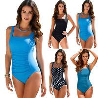 Plus Size Women Swimsuit Swimwear Monokini One Piece Beach Bikini Push Up Padded