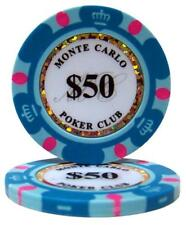 (25) $50 MONTE CARLO CASINO POKER CHIPS