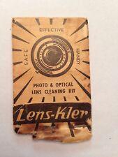 Vintage Lens-Kler Photo & Optical Lens Cleaning Kit tissuses