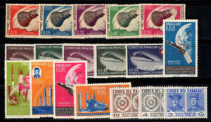 Paraguay 1963-1964 MNH 100% space, Olympics, personality