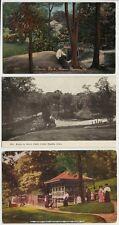 Lot of 3 Old Postcards -Scenes in Bever Park - Cedar Rapids Iowa