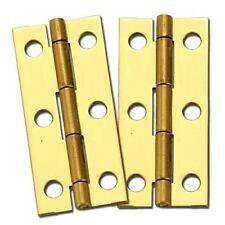 "Stanley Solid Brass Miniature Narrow Hinge, 2-1/2"" Long x 1-1/8"" Open (2)"