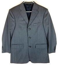 Pronto Uomo Couture 38 R Gray 3 Button Suit Jacket Sport Coat Super 120's Wool