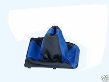 FITS CORSA B C 93-06  GEAR GAITOR BLUE BLACK 2 TONE REAL LEATHER NEW