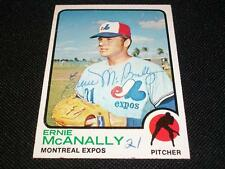 Expos Ernie McAnally Auto Signed 1973 Topps Card #484  Vintage Signature N