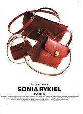 PUBLICITE ADVERTISING  1996   SONIA RYKIEL  accessoires COLLECTION SACS