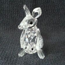Swarovski Silver Crystal Kangaroo with Joey