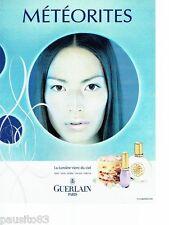 PUBLICITE ADVERTISING 126  2000  maquillages cosmétiques Météorites par Guerlain