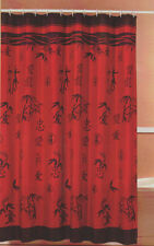"Asian Bamboo Oriental Fabric Shower Curtain by Popular Bath 70"" x 72"""