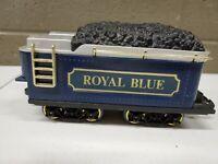 Vintage New Bright 1984 Best Western Royal Blue Coal Tender Car (a229)