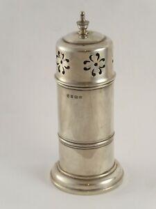 SMART ANTIQUE LIGHTHOUSE SOLID STERLING SILVER SUGAR CASTER SHAKER 1912 102 g