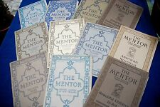 THE MENTOR lot of 11 mail-order periodicals varied subjects w/ prints 1913-16