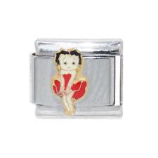 Betty Boop red dress Italian Charm - fits 9mm classic Italian charm bracelets