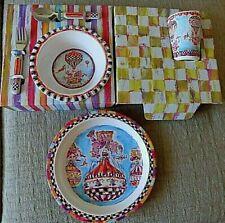 MACKENZIE-CHILDS HIP HOP AWAY 5 PIECE DINNERWARE SET FOR A SPECIAL TODDLER