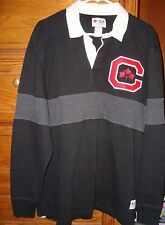 hudson's bay canada rugby style mens shirt black sz xl cotton olympic
