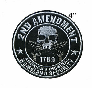 2ND Amendment 1789 Embroidered Iron-on / Sew-on Patch Morale Tactical Applique
