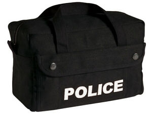 Black Police Tactical Equipment Canvas Small Gear Bag Rothco 8185