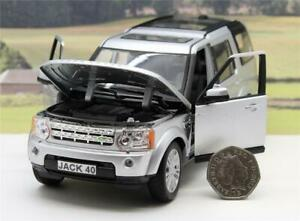 PERSONALISED PLATE 1/24 Silver Land Rover Discovery 4 Boys Toy Dad Boxed Present