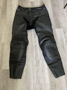 Joe Rocket Black Leather Motorcycle Pants Padded Size 34 Read Desc*