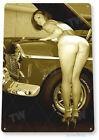 TIN SIGN Work Heels Pin-Up Hot Rod Girl Auto Shop Garage Cave A010
