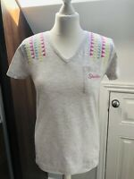 Ladies 'Skechers' Grey Cotton Top Short Sleeved T Shirt Size 12 M BNWOT