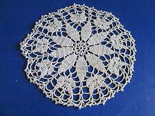 "New listing (M) Vintage Hand Crocheted Cream Doily, 7"" Diameter"