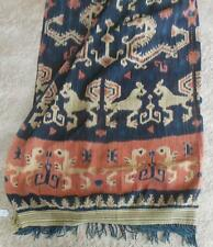 """Antique Sumba Ikat hand woven traditional tapestry from Indonesia 50"""" wide 96"""""""