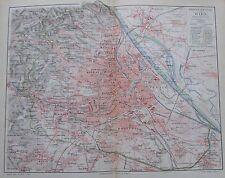 1897 WIEN - 2 alte Stadtkarten Stadtplan Karten Lithographie antique city maps