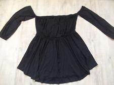 ASOS schönes schulterfreies Jerseykleid schwarz Gr. 40 o. 46 NEU