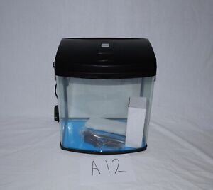 Black 34L Fish Tank Aquarium with LED light and Pump included.