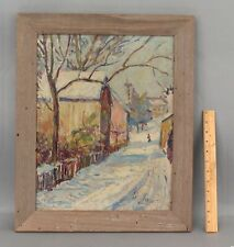 EDGAR NYE American Impressionist Winter Snow Landscape Oil Painting, DC Artist