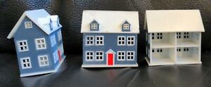 SET OF 3 1:144 dollhouse miniature dollhouse D3109 lot gray white 4 rooms small