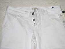 Joie So Real Porcelain White Denim Cargo Button Fly Flare Jeans 25 Retail $208