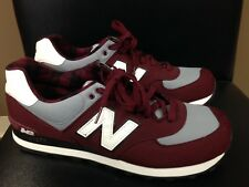 New Balance 574 Classic Sneakers Tennis Shoes Maroon Grey Gray