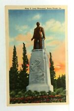 Baton Rouge Louisiana Huey P Long Monument Linen Vintage Postcard