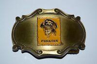 Vintage Pittsburg Pirates 1978 Raintree 3D Brass Belt Buckle MLB Baseball RARE