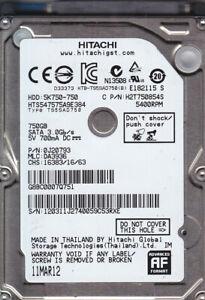 Hitachi HTS547575A9E384 p/n: 0J20793 mlc: DA3936  750GB SATA HDD  7706