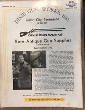 Vintage 1972 Dixie Gun Works Inc. Catalog 121 Gun Parts Supplies Pricing Guide
