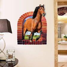 Wandtattoo Pferd Kind Mädchen Pony Aufkleber 3D Hof Tiere Wiese Tiere Aufkleber