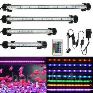 Top Aquarium Fish Tank LED Light RGB SMD White Blue Strip Light Bar Lamp Lights