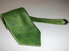 MARKS & SPENCER TIE GREEN TEXTURED STRIPED PURPLE SPOTTED CRAVAT