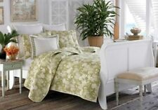Tommy Bahama Plantation 3pc Quilt Set~Full/Queen~Lime~Flowers Tropical NEW