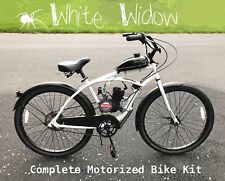 🕸 White Widow 🕷 - Motorized 66cc Engine & Cruiser Bicycle KIT - Build Yourself