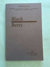 BLACK BETTY - UNCORRECTED PROOF SIGNED BY WALTER MOSLEY