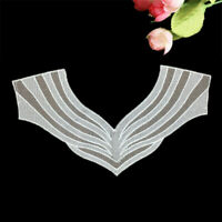 Hollow Lace Crochet Neckline Embroidered Neck Collar Trim Sewing Applique Patch