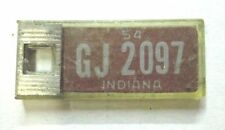 mini MINIATURE 1954 Indiana DISABLED AMERICAN VETERANS LICENSE PLATE KEY CHAIN