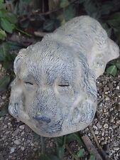 """Poly plastic dog mold plaster concrete garden mould 9"""" x 5"""" x 3"""" H"""