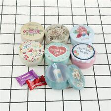 mini flower heart ice cream round Tin Jewelry Box Storage iron Case gift Box CL
