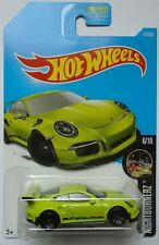 2017 Hot Wheels NIGHTBURNERZ 6/10 Porsche 911 GT3 RS 117/365 (Green Version)